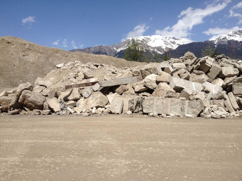 Analyse des flux de matériaux minéraux en Valais
